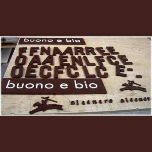 Insegne e targhe legno fresato verniciato Alce nero. Per targhe, scritte, mini scritte e omino sul cavallo soltanto legno fresato verniciato