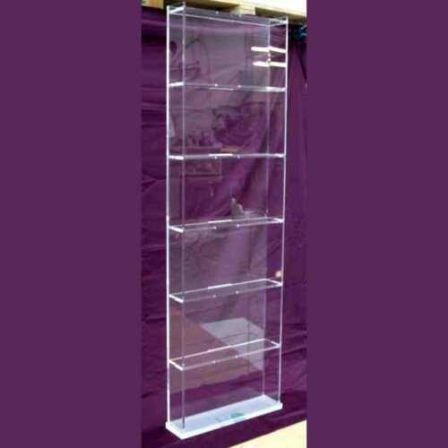Libreria plexiglass trasparente a giorno
