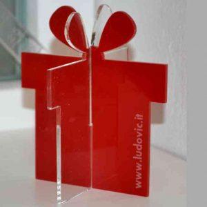 Pacco regalo plexiglass colorato pubblicitario