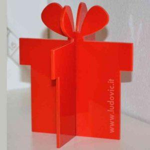Pacco regalo plexiglass rosso promozionale