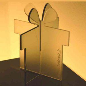 Pacco regalo plexiglass satinato 3D