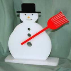Addobbi Pupazzo di neve in plexiglass H21