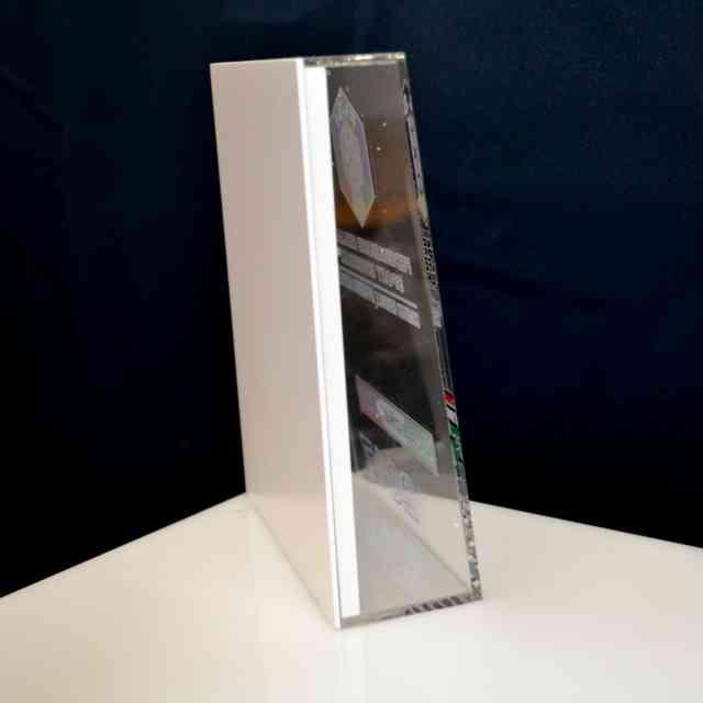 Scatola plexiglass e PVC trofeo premiazione retro