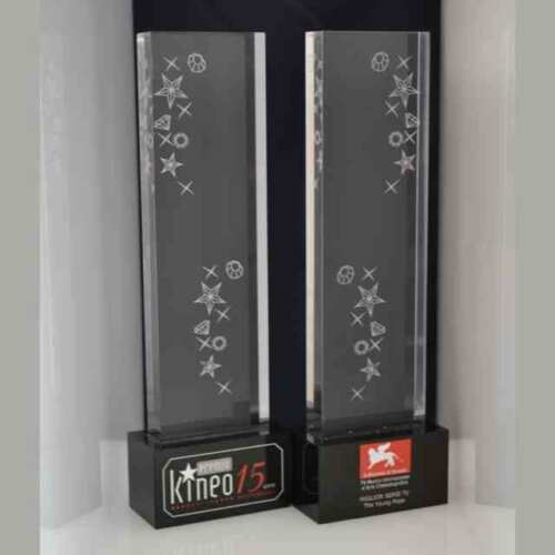 Trophée plexiglass 15° Kineo Festival cinema de Venise