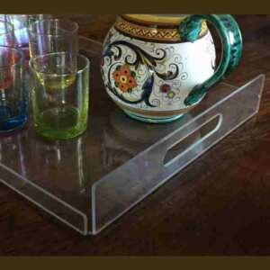 vassoi plexiglass antiurto trasparente policarbonato dettaglio