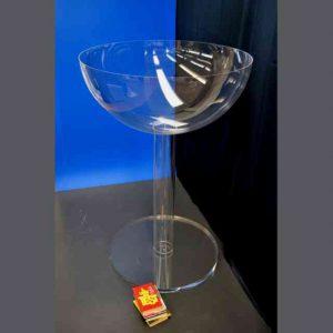 Bicchiere gigante plexiglass trasparente per evento