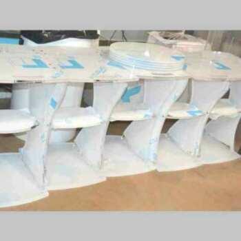 Chariot professionel pour appareils médicauxen plexiglass opal lavable hygienisable