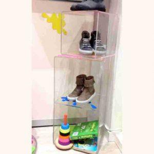 Cubi plexiglass per vetrine Magiche Scarpette sovrapposti