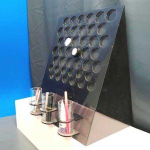 Espositore plexiglass fumè profumerie make up e tester