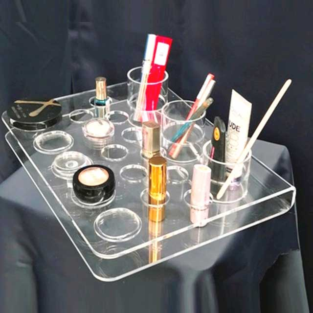 Espositore plexiglass piegato profumerie make up e tester