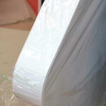 Enseigne à boitier PVC blanc pour bar pour donner du relief ,de 10 cm, façonné à nuage renforcé grâce à l'impression. Enseigne économique