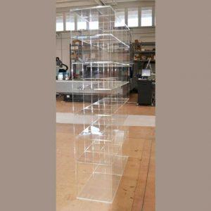 Libreria plexiglass 7 piani di 26 moduli 1