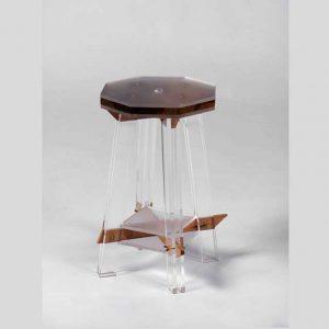 Sgabello plexiglass e legno pregiato Hillsideout