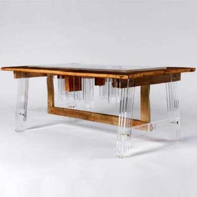 Tavolo plexiglass e legno pregiato Hillsideout
