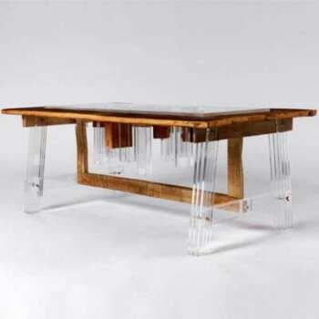 Table plexiglas et bois Hillsideout