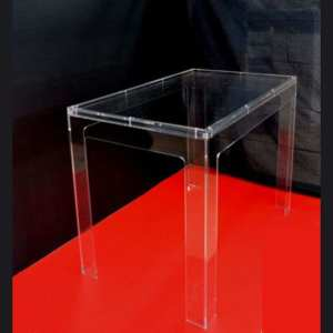 Tavolo plexiglass piano doppio tipo kartell