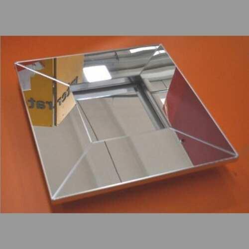Cornice in plexiglass a specchio quadrata cm 45x45 int 20