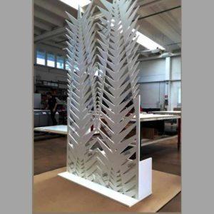 Cloison de séparation en PVC sculpté