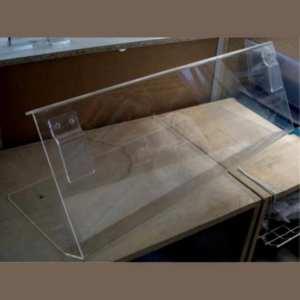 Paratia protezione plexiglass trasparente per mercati