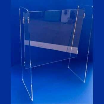 Protection en plexiglas autoportant démontable modèle Poste Italiane