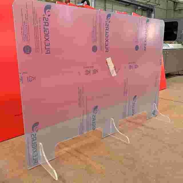 Parafiato plexiglass 2 postazioni