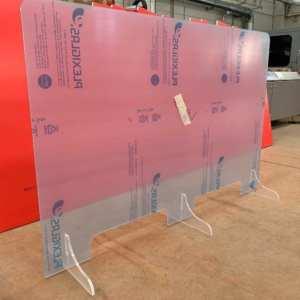 Parafiato plexiglass su misura 2 postazioni passacarte