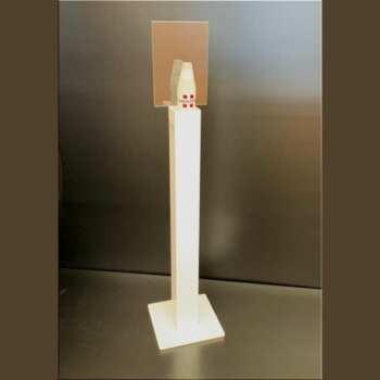 Porta dispenser a colonna gel mani plexi colorato