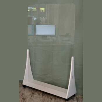 Parete divisoria protettiva mobile in plexiglass cm 150