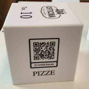 porta menu segna tavolo cubo plexiglass lavabile