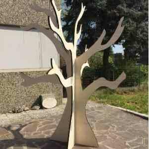 Totem en bois arbre 3D